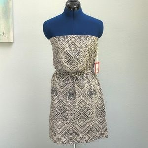 Mossimo Geometric Strapless Tube Dress
